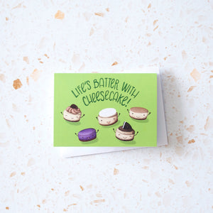 Life's Batter with Cheesecake Mini Card