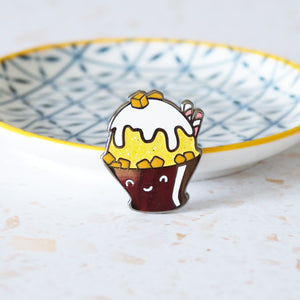 Korean Bingsoo Enamel Pin