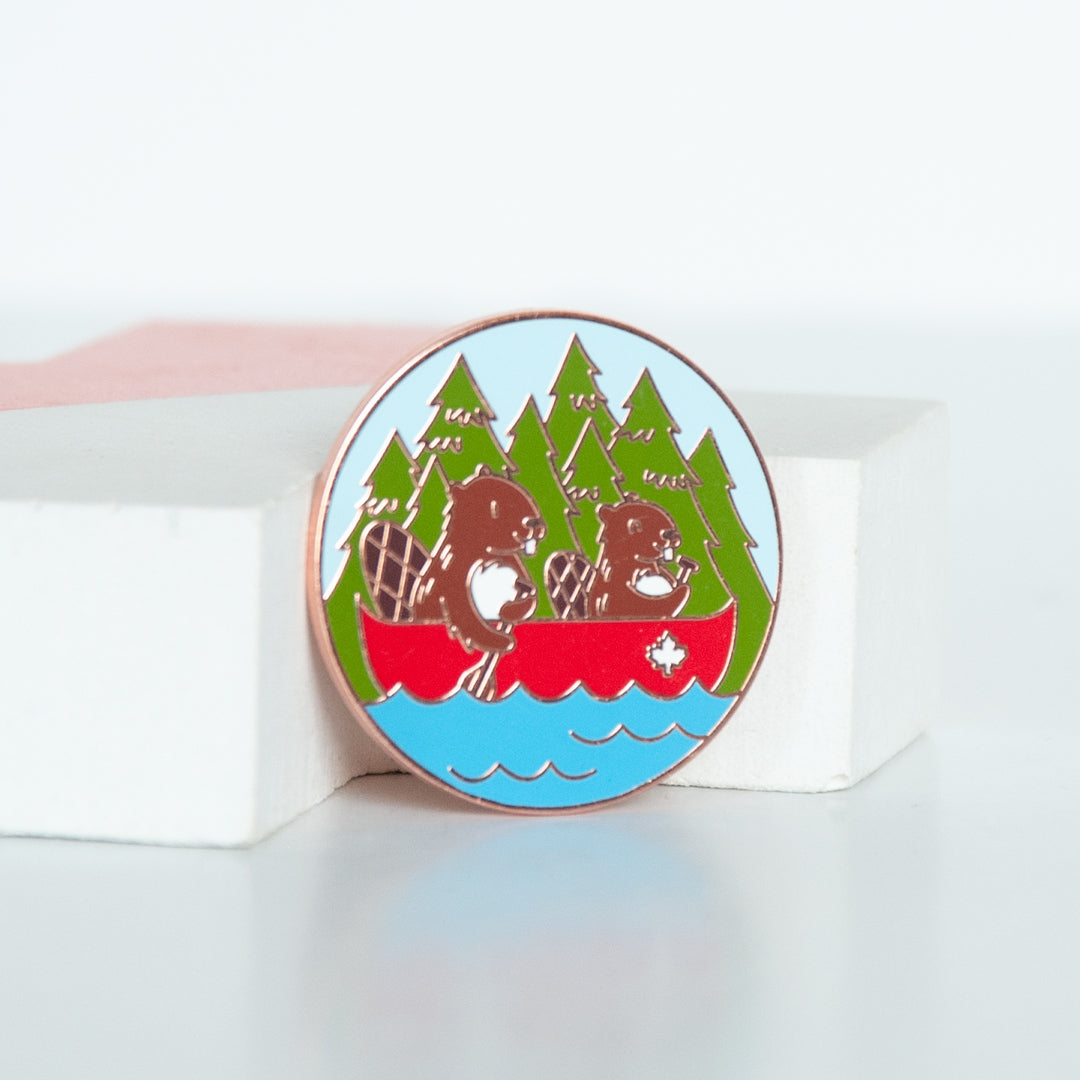 Beaver Canoe Enamel Pin - Limited Edition - Summer Season