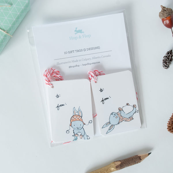 Holiday Gifts tags - Bunny, Sloth or Panda