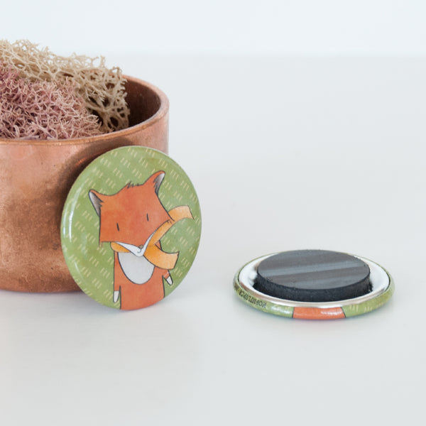 Close up of the swift fox illustrated magnet