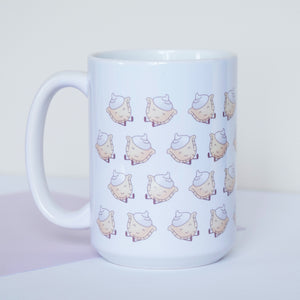 15 ounce ceramic mug with perogy illustration