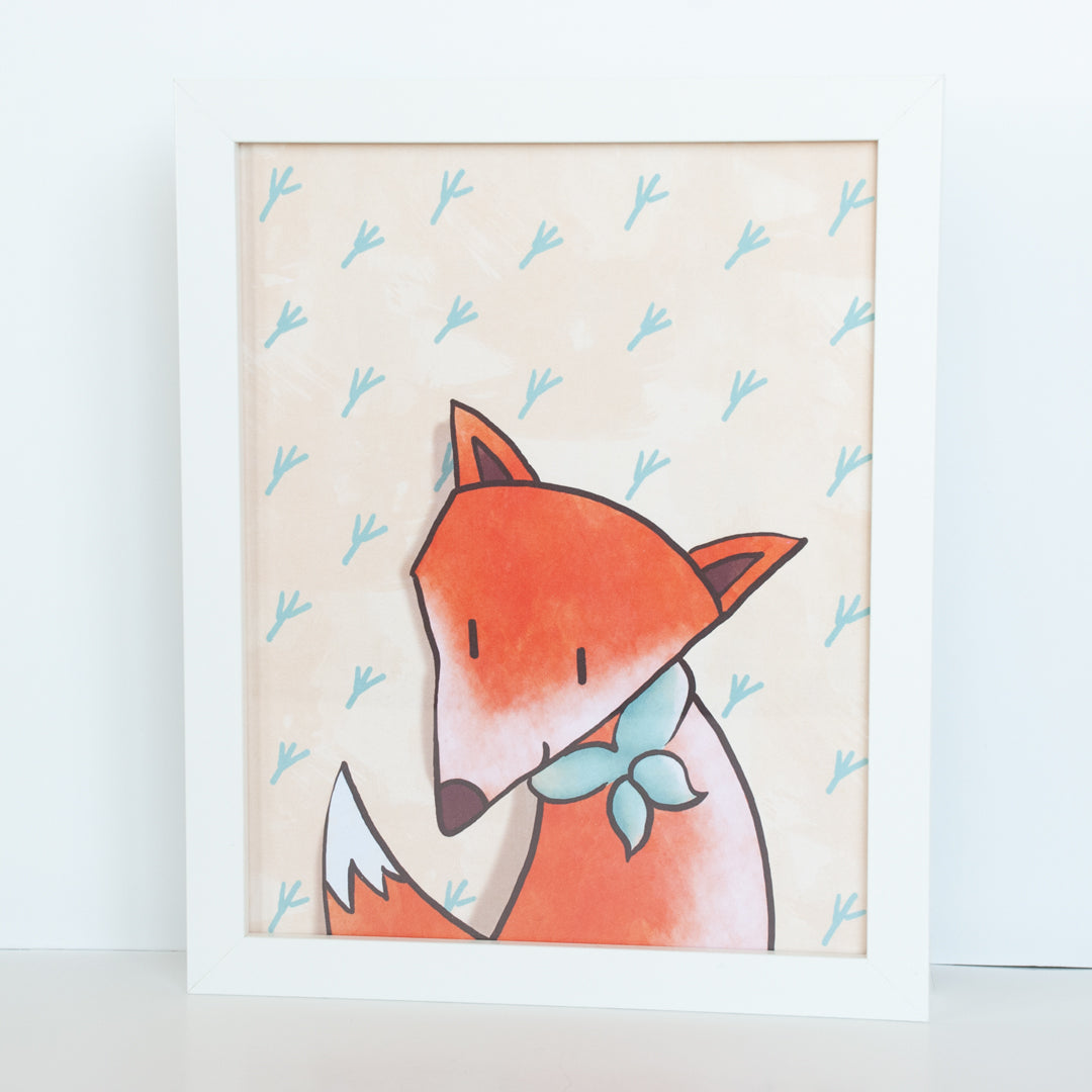 Woodland Fox Animal Digital Wall Art