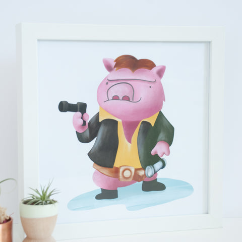"Pig ""Ham Solo"" Digital Wall Art"