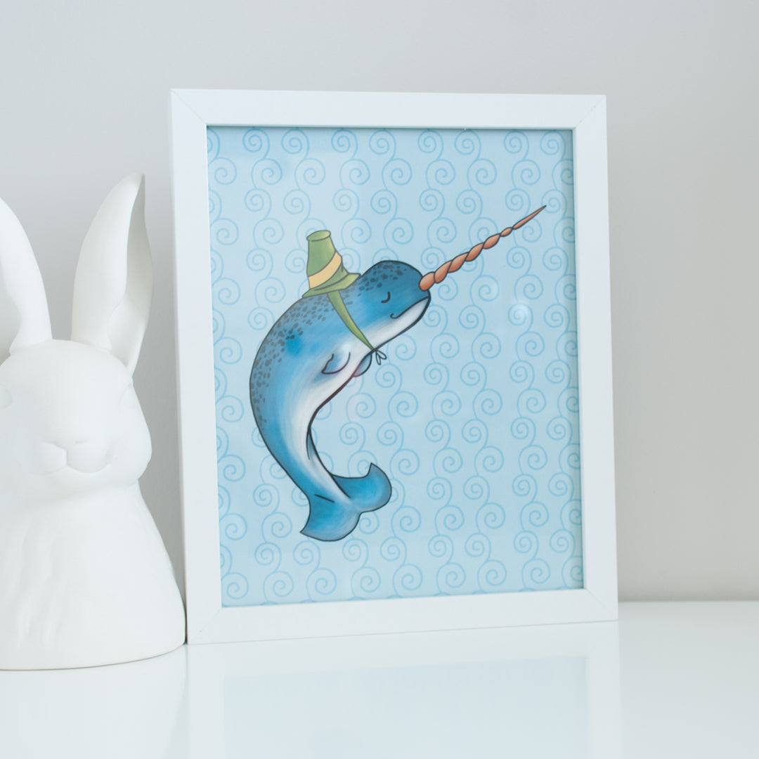 Narwhal Sea Animal Digital Wall Art