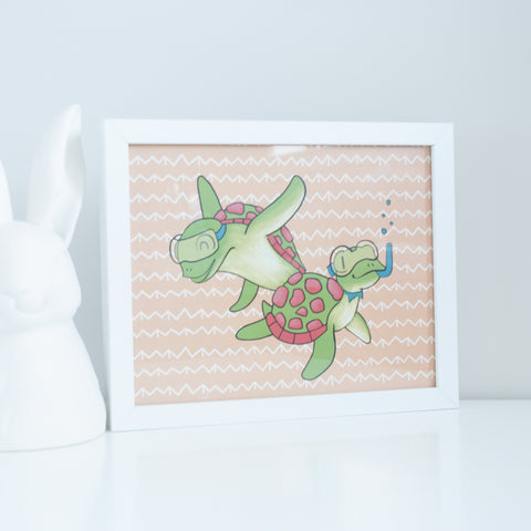 Sea Turtles Digital Wall Art