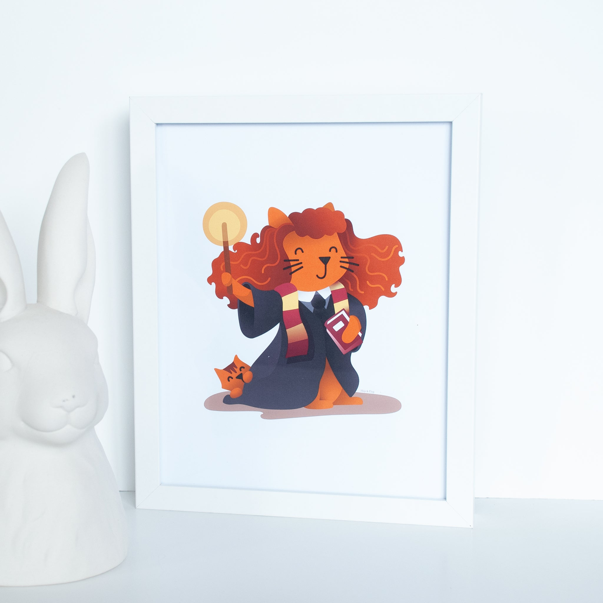 Ginger Cat Wizard Animal Wall Art