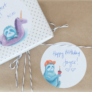 Sloth Gift Tag Stickers