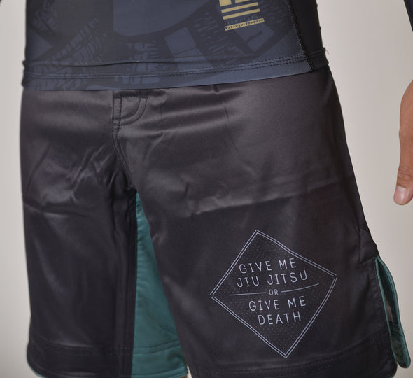 """Jiu Jitsu or Death"" Shorts (Regular Length)"