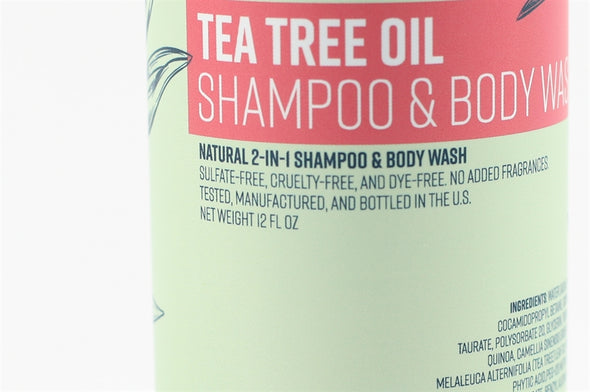 Natural Tea Tree Shampoo & Body Wash (Single Bottle)