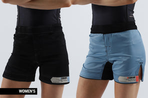 Standard Issue Women's Shorts 2-PACK Black & Pale Blue