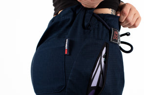 """Butterfly Originals"" Women's Casual Gi Pants - Dark Blue"