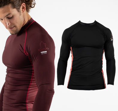 2020 Standard Issue LS Rash Guards 2-PACK (Burgundy, Black)