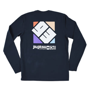 """Spectrum"" Long-Sleeve Shirt (Navy)"