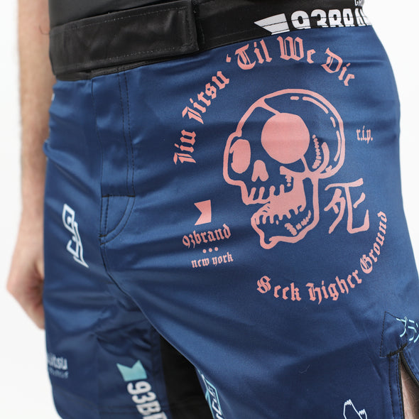 """Splatter V2"" Navy Blue Shorts (Regular Length)"