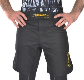 93 Brand 'Standard Issue' Shorts (Black/Gold)