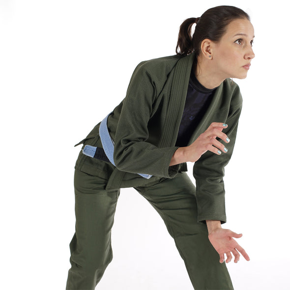 """Standard Issue"" Women's Jiu Jitsu Gi - Olive Green Edition"