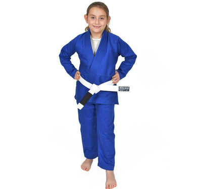 Custom Academy Children's Jiu Jitsu Gi Bundles - Standard Issue Blue