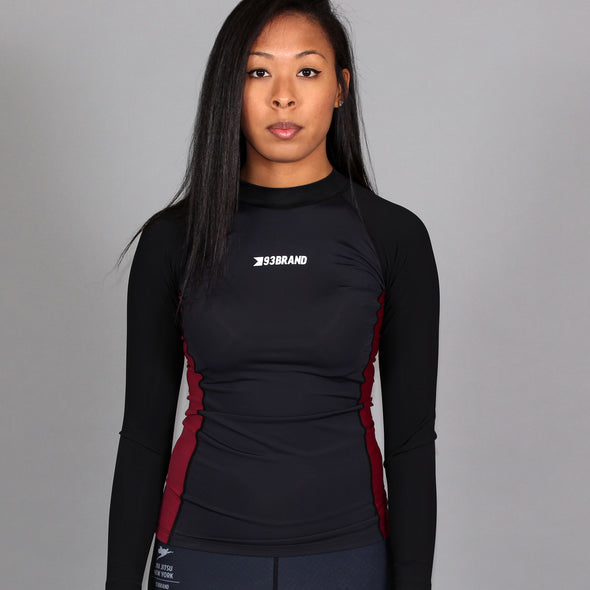 Standard Issue Women's Rash Guards 2-PACK (Black/Blue, Black/Maroon)
