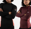 2020 Standard Issue Women's LS Rash Guards 2-PACK (Burgundy, Black)
