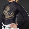 """Strong Snake"" Long-Sleeve Women's Rash Guard"