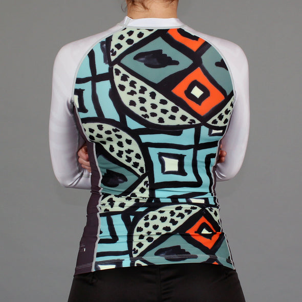 """Fibers"" Women's Rash Guard"