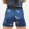 """Splatter V2"" Navy Blue Women's Shorts"