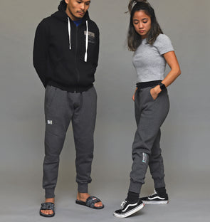Heather Fleeced Joggers