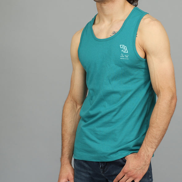 """Monogram"" Tank Top - Teal"