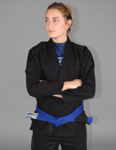 """HOOKS V4"" Women's Jiu Jitsu Gi - Blacked Out Special Edition"