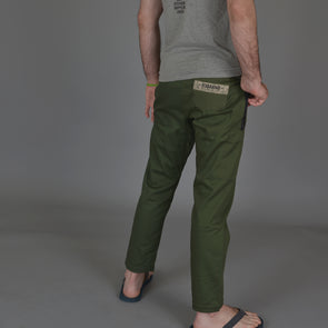 """Jiu Jitsu Originals"" Olive Green Casual BJJ Gi Pants"
