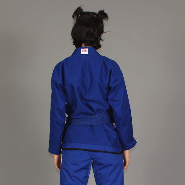 """Goose Feather"" Lightweight Women's Blue Jiu Jitsu Gi"