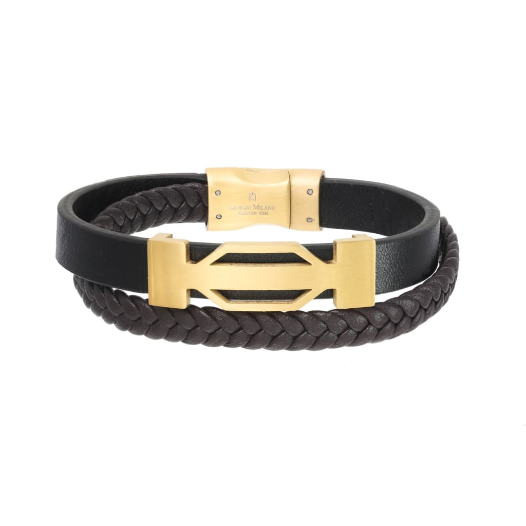 1556ST2 (gold/leather Brown) Giorgio Milano Jewelry