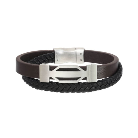 1556ST2 (Silver/ leather Brown) Giorgio Milano Jewelry