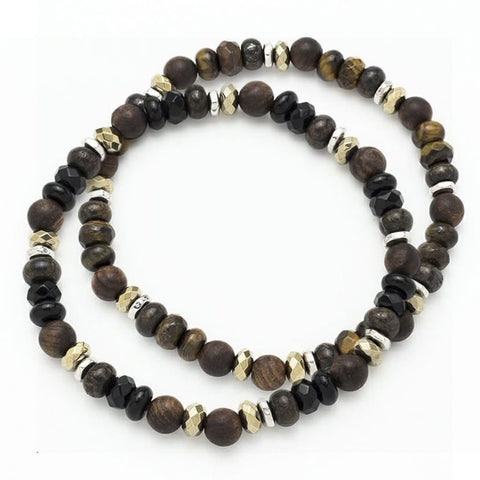 1724 (multi brown steel) Giorgio Milano Jewelry