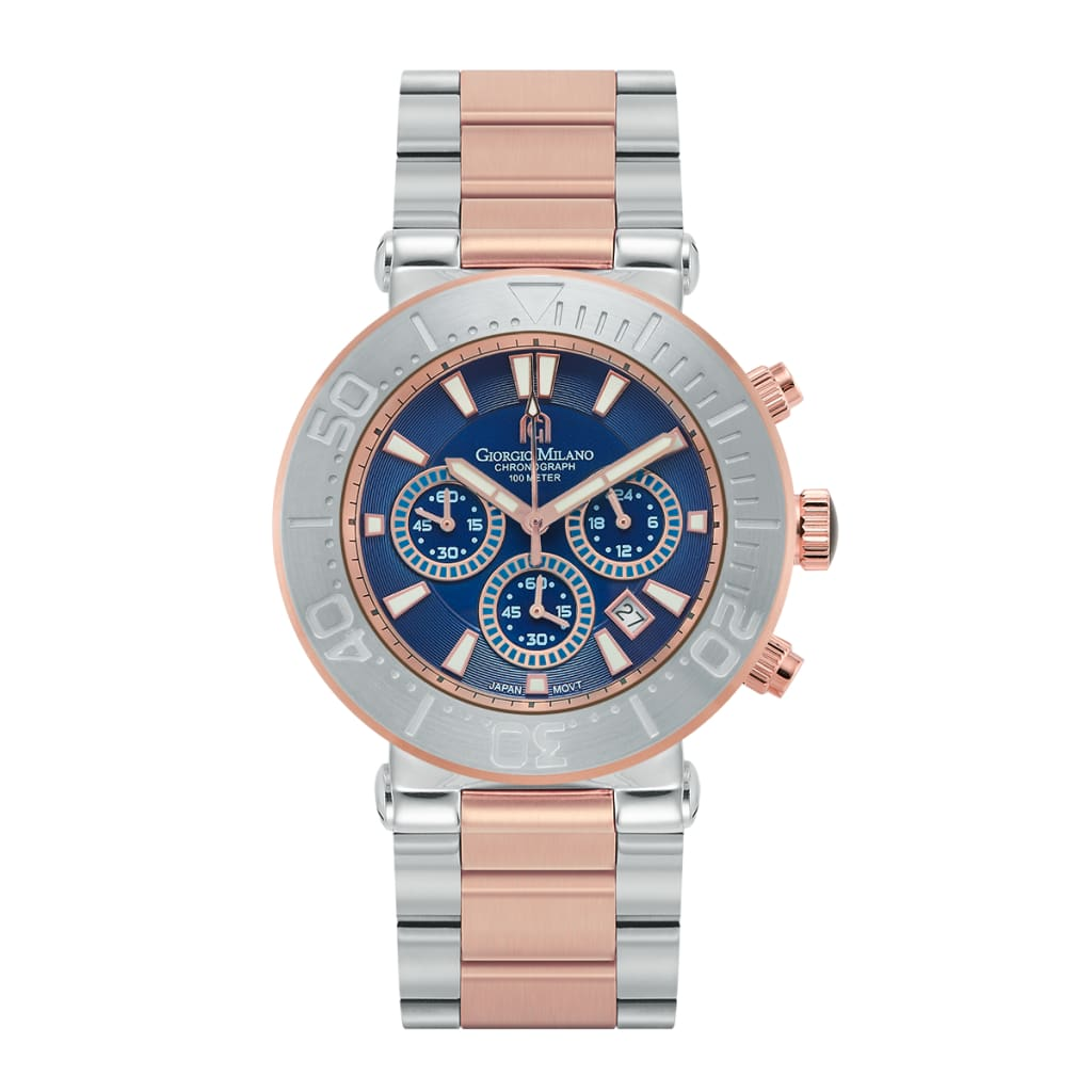 FERRO (Rose Gold Two Tone Blue) Giorgio Milano Watches