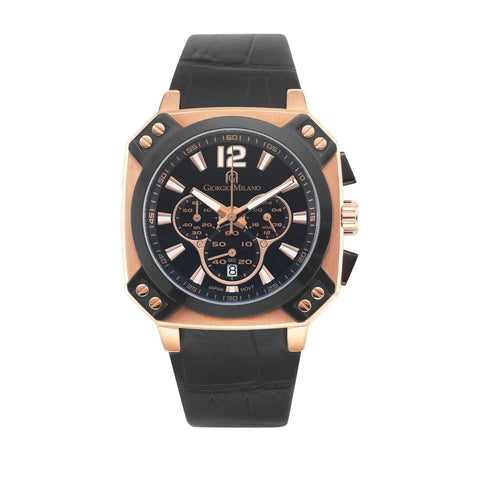 TEMPO (Rose Gold/Black) Giorgio Milano Watches