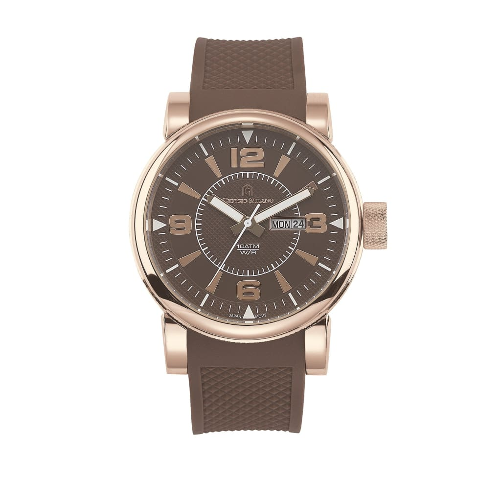 VINCENZO (Rose Gold/Brown/Brown) Giorgio Milano Watches
