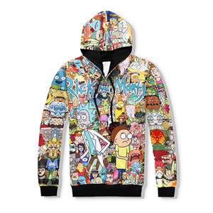 Rick and Morty Different Design Hooded Pullover