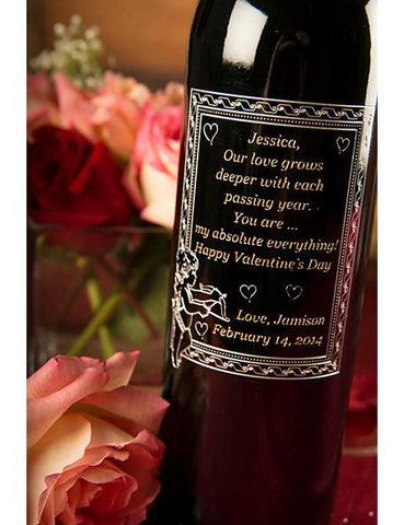 Message on a Bottle Etched Wine