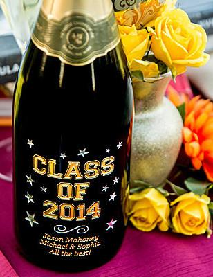 "Varsity ""Class of"" Etched Wine"