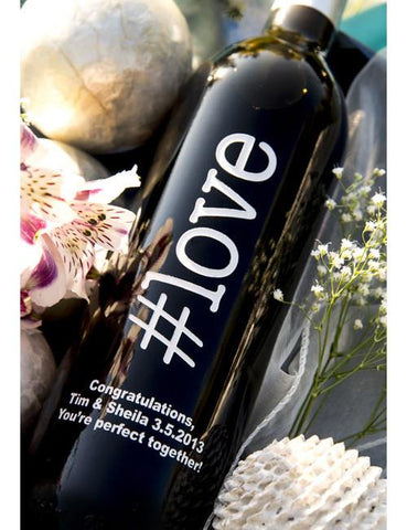 hashtag love Etched Wine