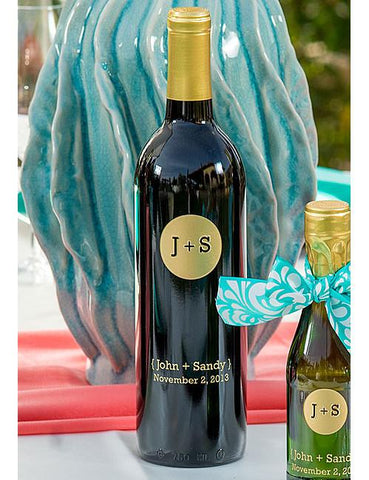 Monogram Circle Etched Wine