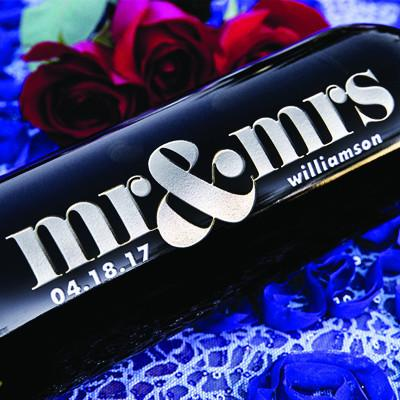 Bold Mr & Mrs Etched Wine