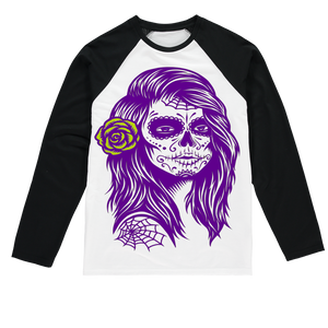 Tamies Designs Sugar Skull Sublimation Long Sleeve T-Shirt