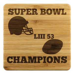 Patriots Super Bowl LIII 53 Champions 2019  4 PC Coasters Set gift fathers day gift