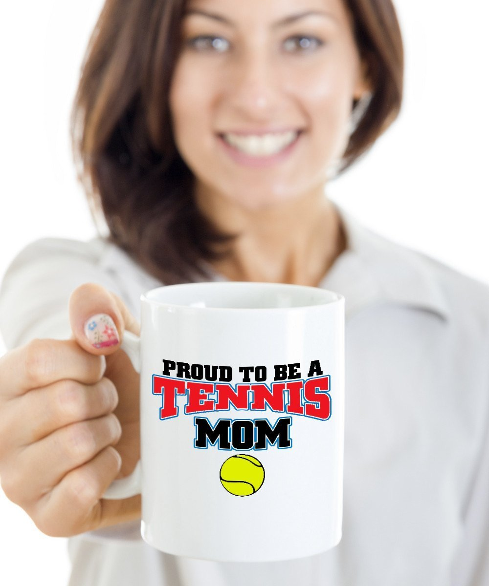 Proud To Be A Tennis Mom Trendy White 11 Oz Mug