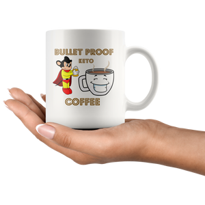 Bullet Proof Coffee Keto 11oz White Coffee Mug Christmas gift