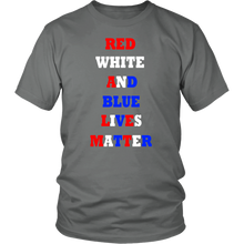 Red White And Blue Lives Matter Unisex T-shirt