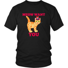 Meow Want You Cat Patriotic Uncle Sam Unisex T-Shirt